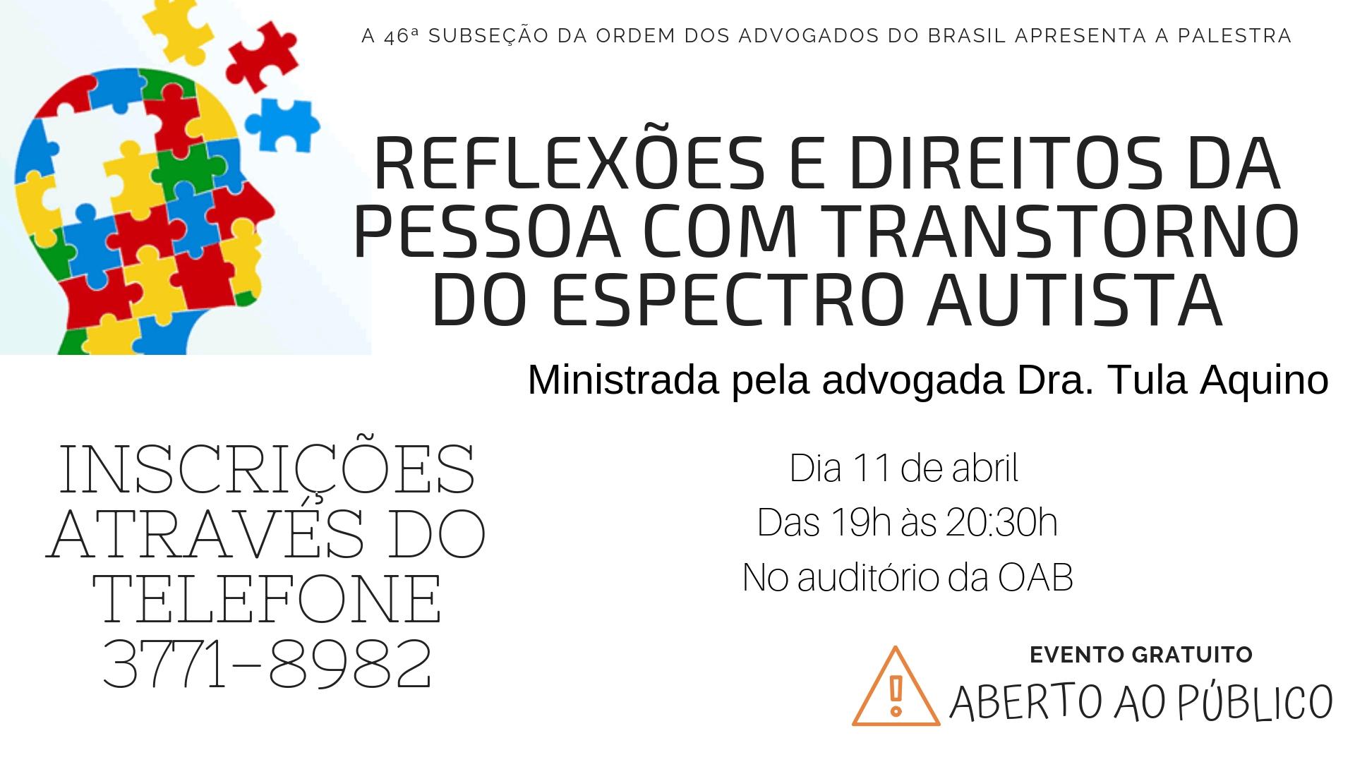 REFLEXÕES E DIREITOS DA PESSOA COM TRANSTORNO DO ESPECTRO AUTISTA