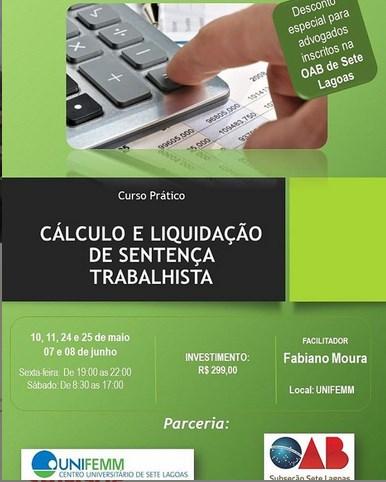 CURSO PRÁTICO DE CÁLCULO E LIQUIDAÇÃO DE SENTENÇA TRABALHISTA